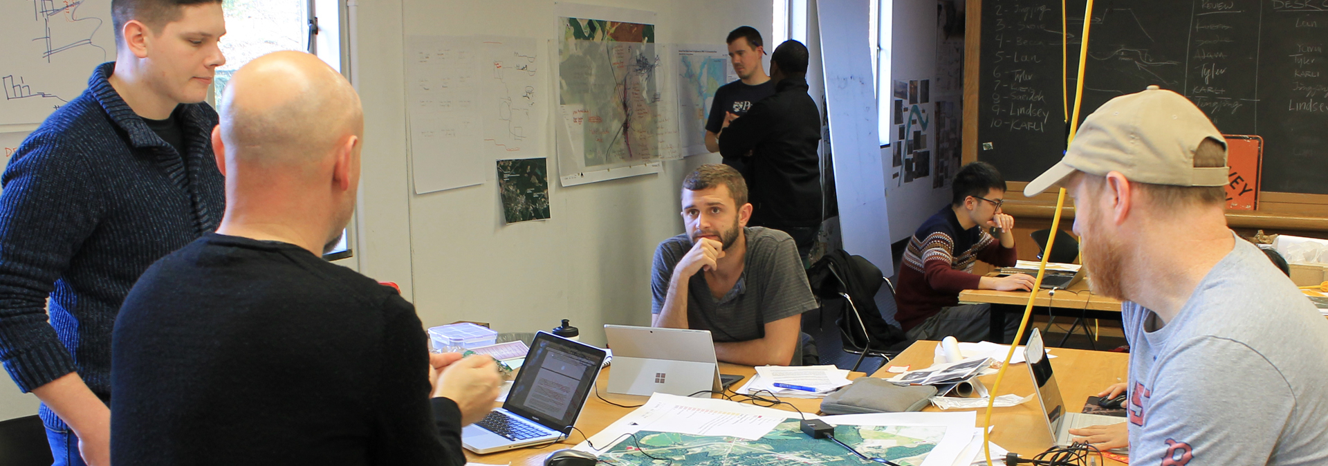 Landscape architecture students with faculty