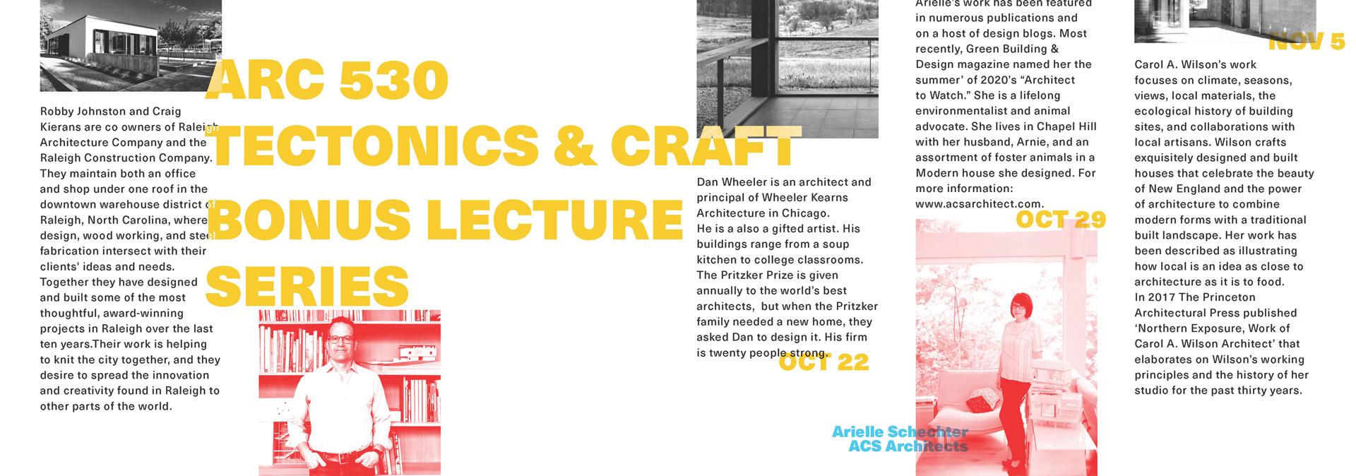 ARC 530 Tectonics and Craft Lecture Series