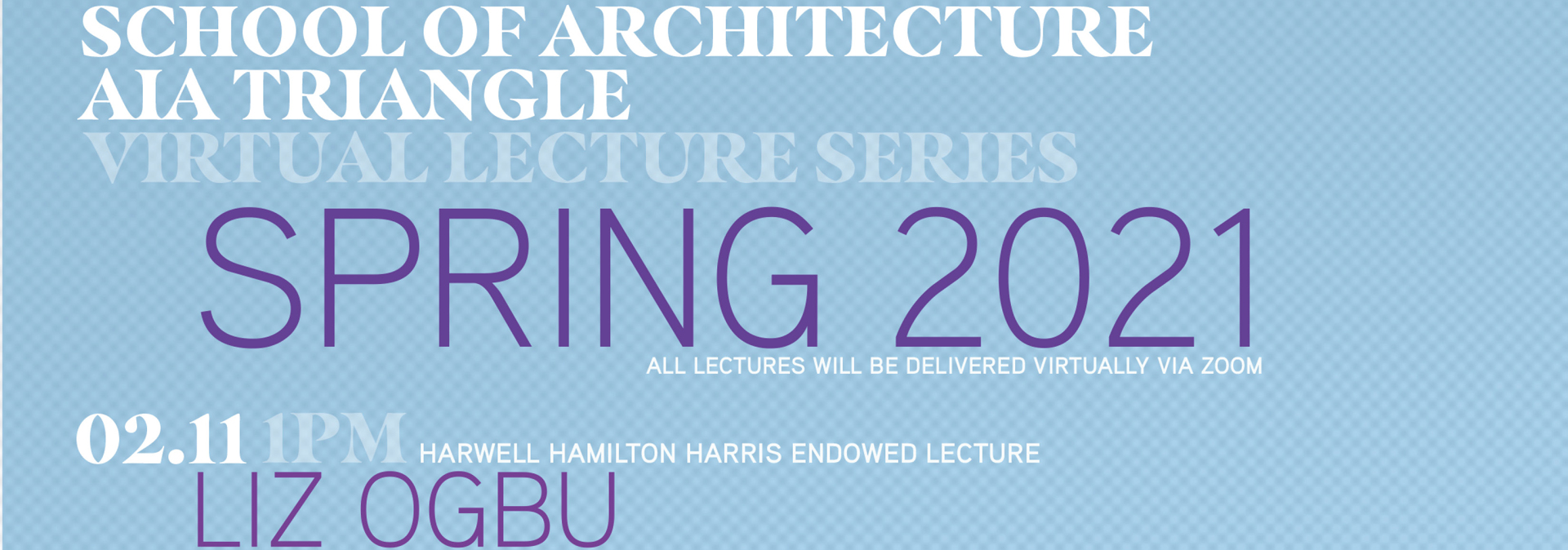 Join us for a joint lecture with AIA Triangle featuring Liz Ogbu, a designer, urbanist and spatial justice activist. CE Credits pending approval.