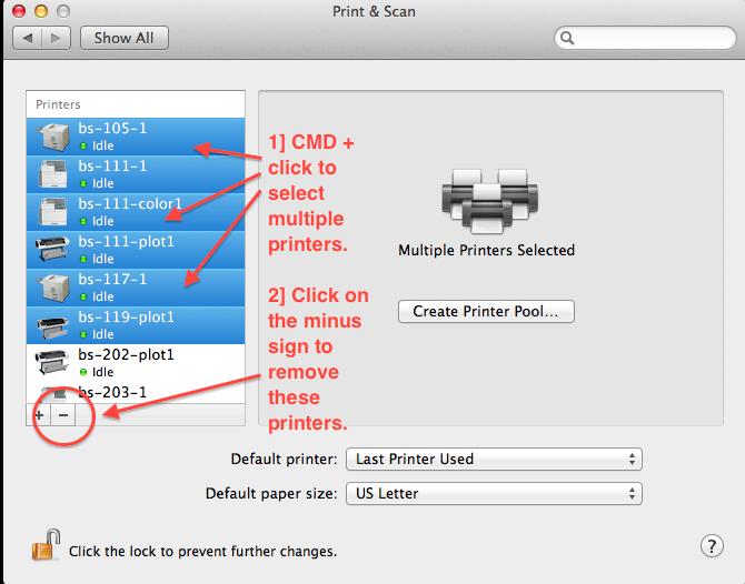 Macintosh Printer Installation – College of Design