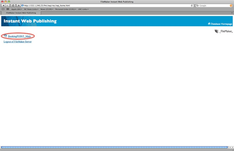 DesignCheckout Database Selection Screen