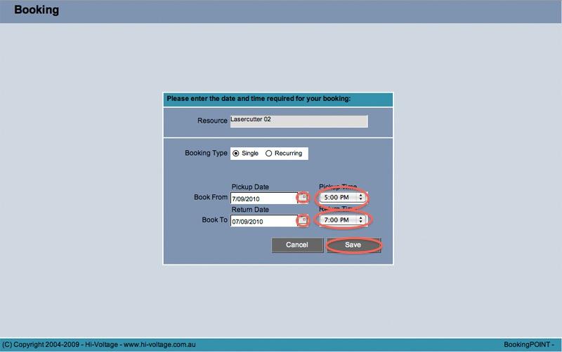 DesignCheckout Reservation Screen
