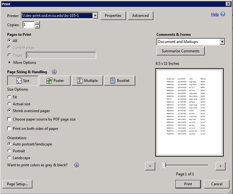 des-printadmin Screen Capture