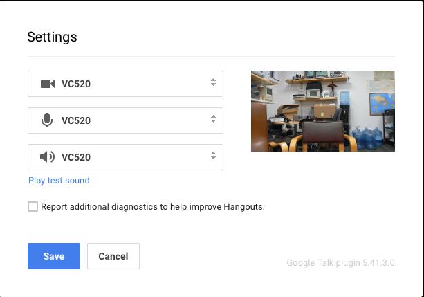 Google Hangouts for Mac